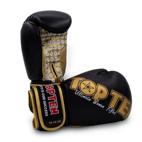 Boxing Gloves TOP TEN 'Ultimate Women' - Black/Gold