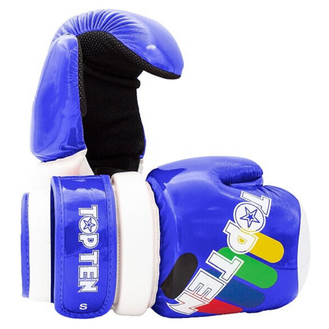 Open Hands Gloves TOP TEN 'ITF Block' - Blue Glossy