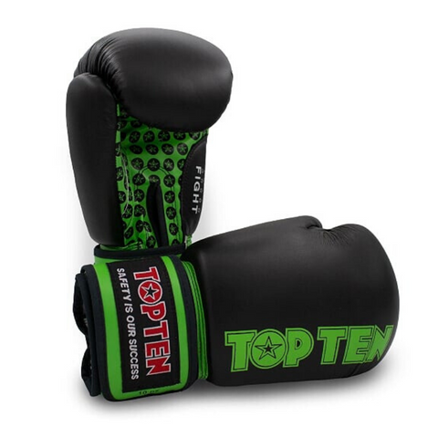 Boxing Gloves TOP TEN 'Fight' - Black/Green