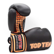 Boxing Gloves TOP TEN 'Fight' - Black/Orange