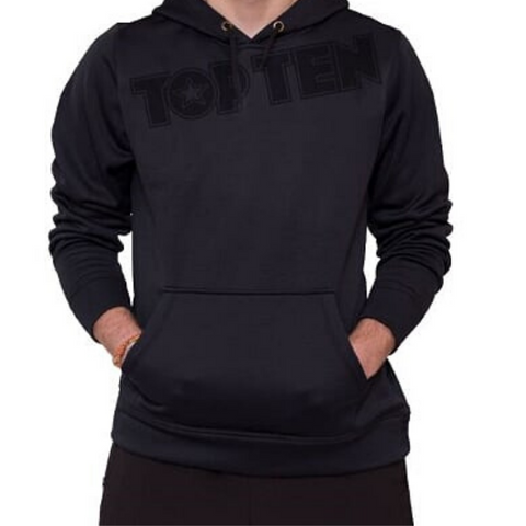 Hoodie TOP TEN - Black