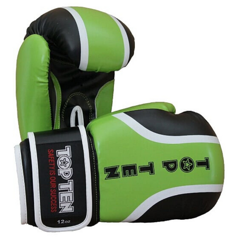 Boxing Gloves TOP TEN 'Ralley' - Black/Green