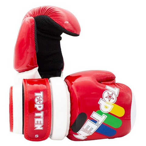 Open Hands Gloves TOP TEN 'ITF Block' - Red Glossy