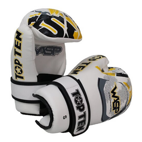 Pointfighter Glove TOP TEN 'Wasp' - White/Yellow