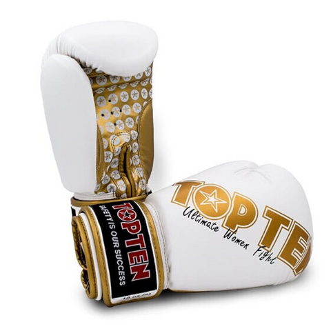 Boxing Gloves TOP TEN 'Ultimate Women' - White/Gold