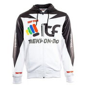Hoodie TOP TEN 'ITF' - White/Black