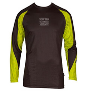 Rashguard MMA TOP TEN 'UFA' Long Sleeve - Black/Yellow