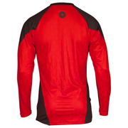 Rashguard MMA TOP TEN 'UFA' Long Sleeve - Black/Red