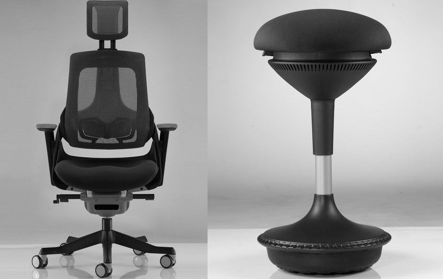 Motion AirGlide Chair and Motion AirWise Stool