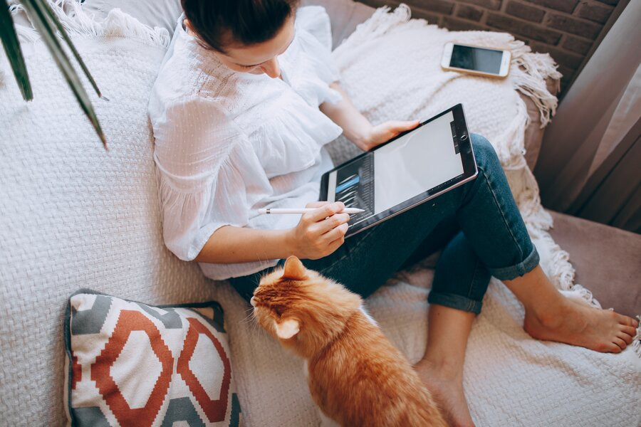 use of tablet or notebook