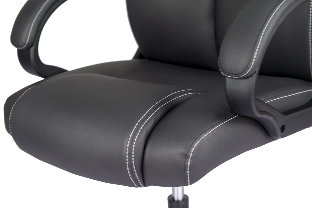 MotionGrey M1 Premium Leather Chair - Black