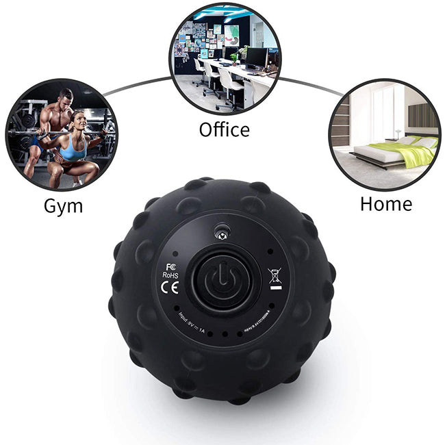 MotionGrey High intensity 4 Speed Vibrating Massage Gun Ball For Muscle Relaxation With Massage Ball Trigger Point