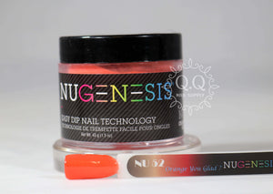 Nugenesis Dip Powder - NU 52 Orange You Glad?