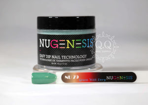 Nugenesis Dip Powder - NU 79 Green With Envy