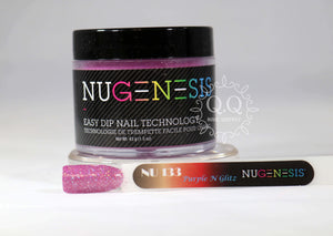 Nugenesis Dip Powder - NU 133 Purple N Glitz