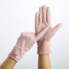 Load image into Gallery viewer, Cotton Decent Driving Sunscreen Gloves