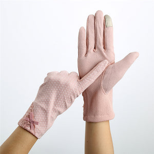 Cotton Decent Driving Sunscreen Gloves