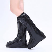 Load image into Gallery viewer, Waterproof Zipper Rubber Rain Boots