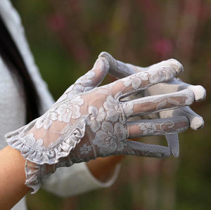 women's Lace sunscreen gloves