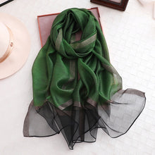 Load image into Gallery viewer, Designer 2019 solid silk scarf