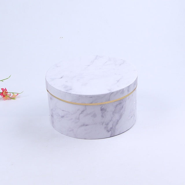 Marble Circular Flower Bouquet Package
