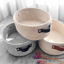 Load image into Gallery viewer, Woven Cotton Rope Storage Basket