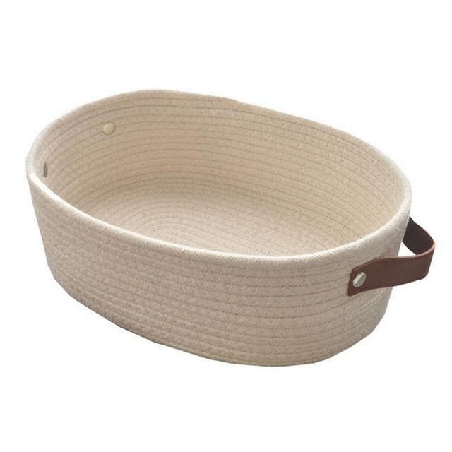 Woven Cotton Rope Storage Basket