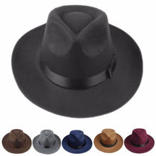 Load image into Gallery viewer, Brim Panama Bowler Trilby Hat