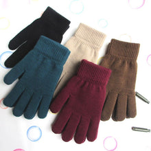 Load image into Gallery viewer, Ribbed Knitted Full Fingered Gloves