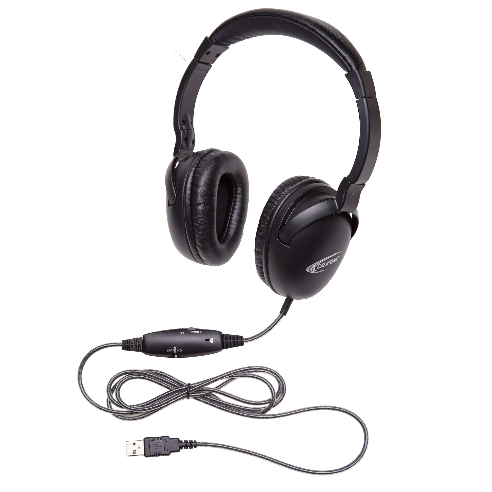 Califone NeoTech Plus USB Headset with In-line Mic - Learning Headphones