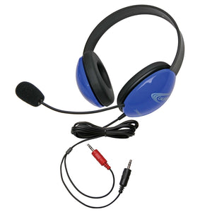 Listening First Stereo Headset - Blue - Dual 3.5mm Plugs - Learning Headphones