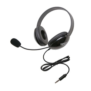 Listening First Stereo Headset - Black - To Go Plug - Learning Headphones