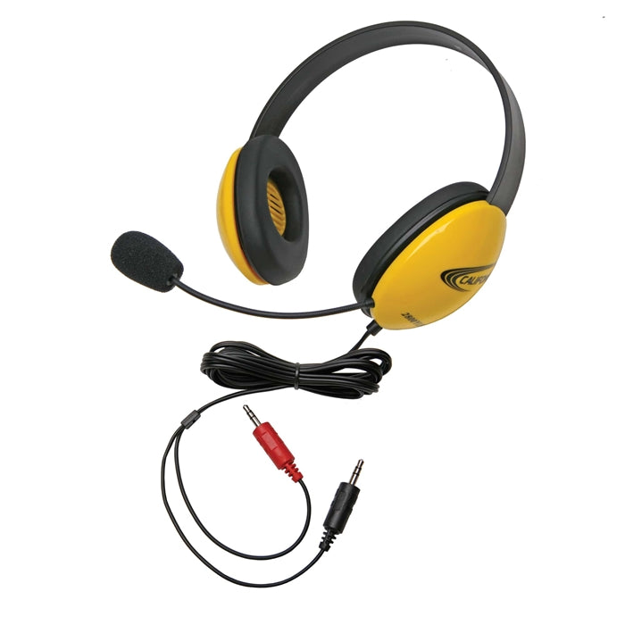 Listening First Stereo Headset - Yellow - Dual 3.5mm Plugs - Learning Headphones