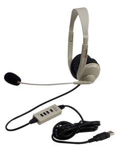 Multimedia Stereo Headset with USB Plug - Learning Headphones