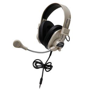 Deluxe Stereo Headset - Beige - with To Go Plug - Learning Headphones