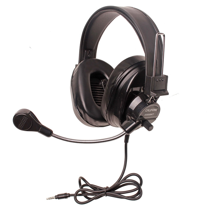 Deluxe Stereo Headset - Black - with To Go Plug - Learning Headphones