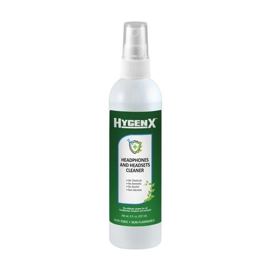 HygenX Headphones and Headset Cleaner - Spray Bottle (8 Oz.)