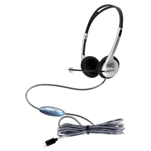 MACH-1 Multimedia USB Type-C Headset - Steel Reinforced Gooseneck Mic and In-Line Volume