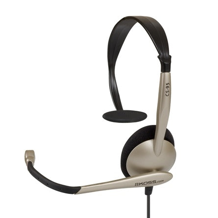 Noise Cancelling Headset with Mic and Dual Plug CS95 - Learning Headphones