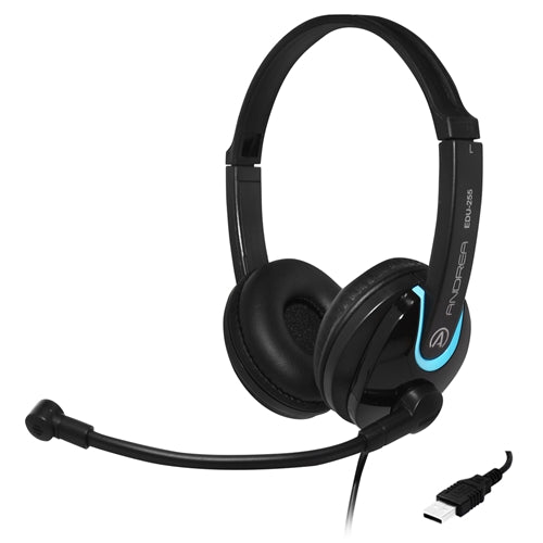 EDU-255 USB On-Ear Stereo Headset - Learning Headphones