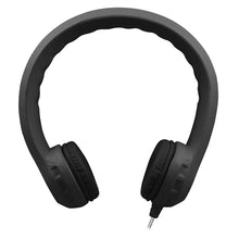 Load image into Gallery viewer, Flex-PhonesXL (Black) - Indestructible, Single-Construction Headphones For Teens - Learning Headphones