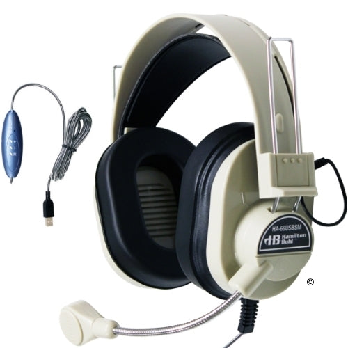 Deluxe USB School Headset with Gooseneck Microphone - Learning Headphones