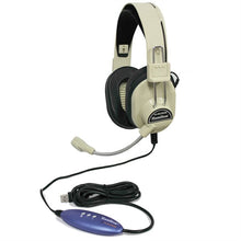 Load image into Gallery viewer, Deluxe USB School Headset with Gooseneck Microphone - Learning Headphones