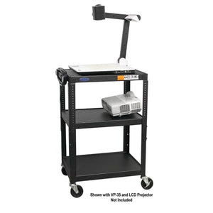 "Steel Cart Adjustable 26"" to 42"" with Electric - Learning Headphones"