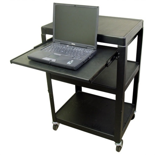 Adjustable AV Cart with Pull Out Laptop Shelf and Electric - Learning Headphones