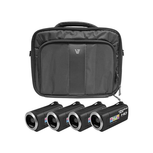 HD Camcorder Explorer Kit with 4 Cameras Software and Case - Learning Headphones