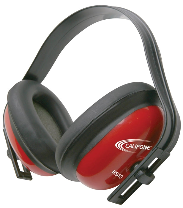 Hearing Safe 26 db Hearing Protector with Round Ear Cups - Red - Learning Headphones