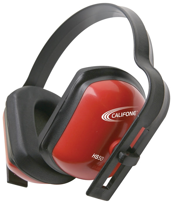 Hearing Safe 28db Hearing Protector with Rectangular Ear Cups - Red - Learning Headphones