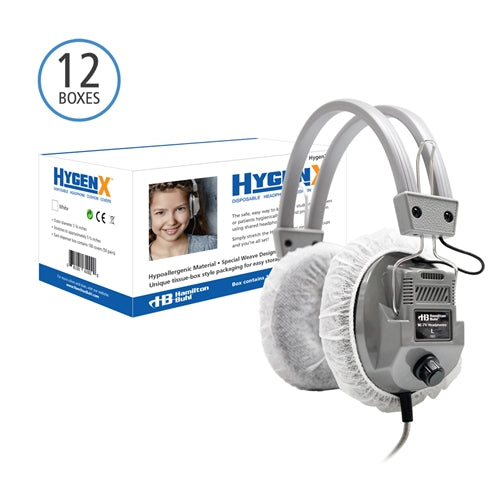 Master Carton 600 Pair HygenX Sanitary Ear Cushion Covers for Headphones & Headsets - Learning Headphones