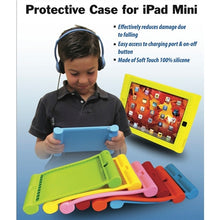 Load image into Gallery viewer, Kids Red iPad Mini Protective Case - Learning Headphones
